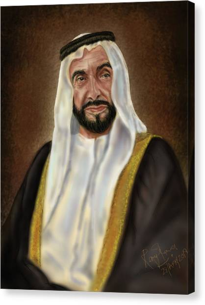 Year Of Zayed Portrait Release 2018 Canvas Print by Remy Francis