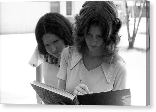 Yearbook Signing, 1972, Part 1 Canvas Print