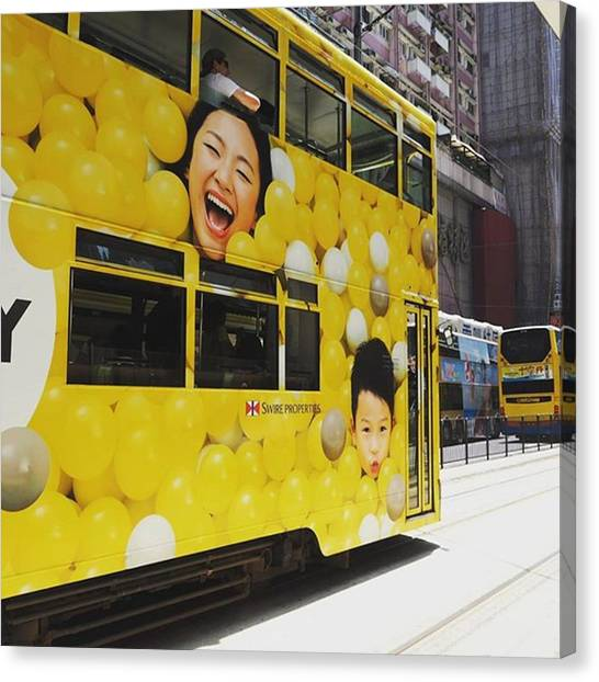 Balloons Canvas Print - Yeay..the Tram Has Arrived by Kartika Kurniasari