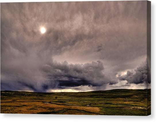 Yellostone Sky Canvas Print by Patrick  Flynn