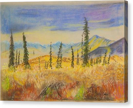 Yellow Alaska Canvas Print