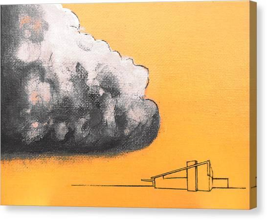 Yellow Alex Dark Cloud Canvas Print