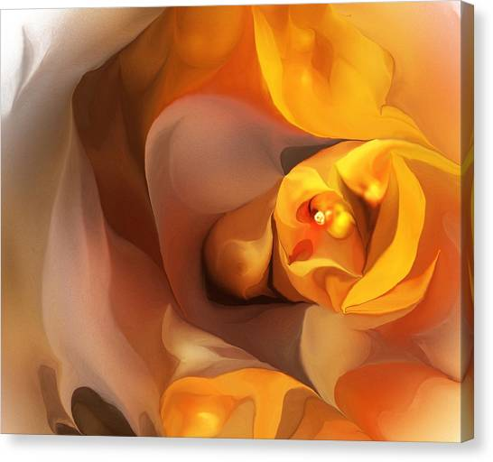 Yellow And Gold Abstract 050712 Canvas Print