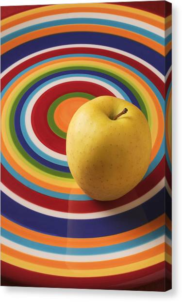 Apples Canvas Print - Yellow Apple  by Garry Gay