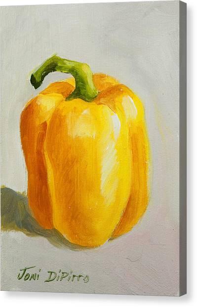 Yellow Bell Pepper Canvas Print by Joni Dipirro