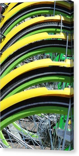 Yellow Bike Fenders Canvas Print