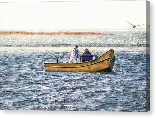 Yellow Boat - Canvas Print