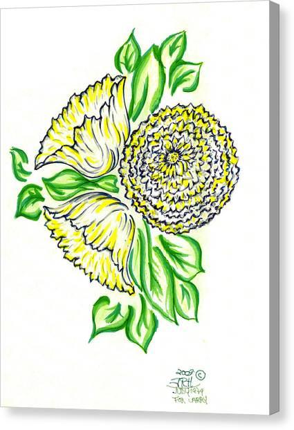 Yellow Bouquet Canvas Print by Judith Herbert
