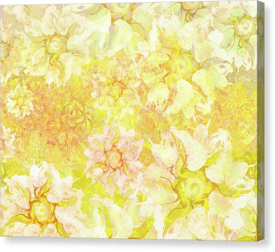 Yellow Camellia Hedges Canvas Print