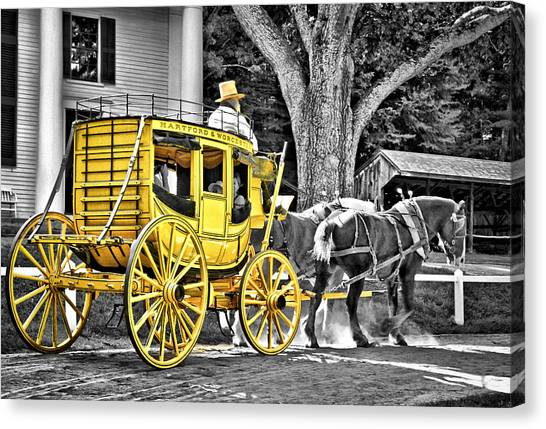 Carriage Canvas Print - Yellow Carriage by Evelina Kremsdorf
