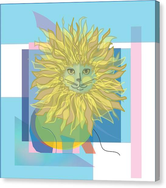 Yellow Cat Canvas Print by Susan Nelson