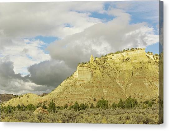 Yellow Cliffs Canvas Print