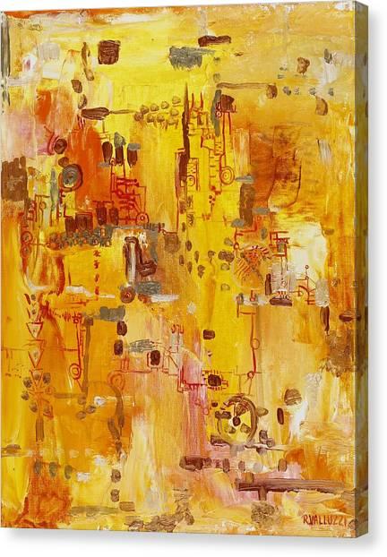 Yellow Conundrum Canvas Print