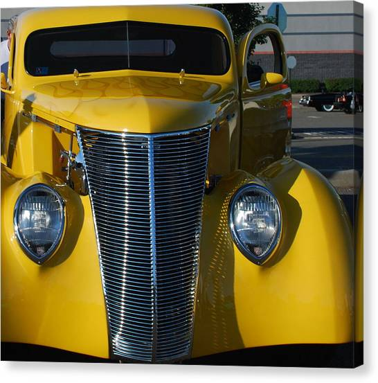Yellow Coupe Canvas Print by William Thomas