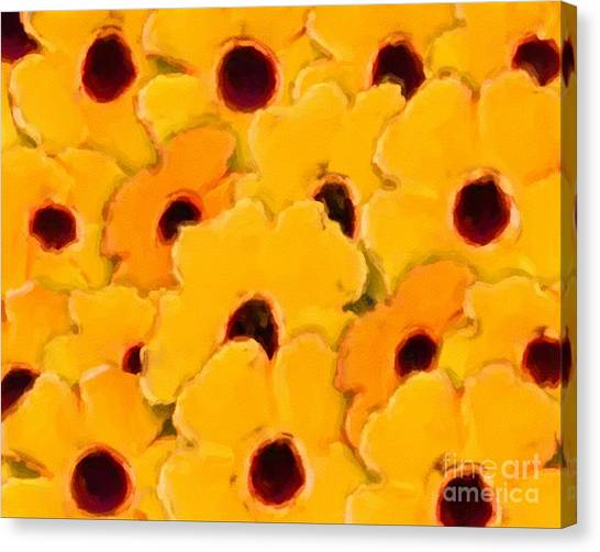 Yellow Daisy Flowers Canvas Print