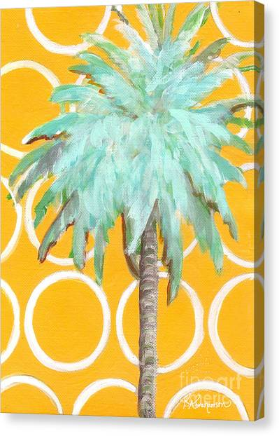 Yellow Delilah Palm Canvas Print