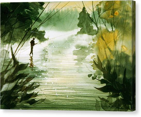 Yellow Dog River Canvas Print by Sean Seal