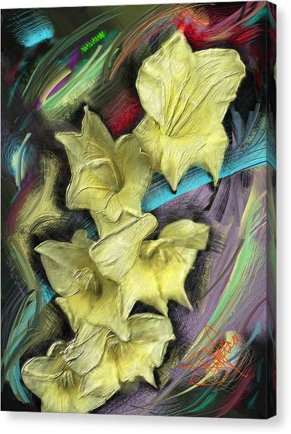 Yellow Canvas Print by Donald Pavlica