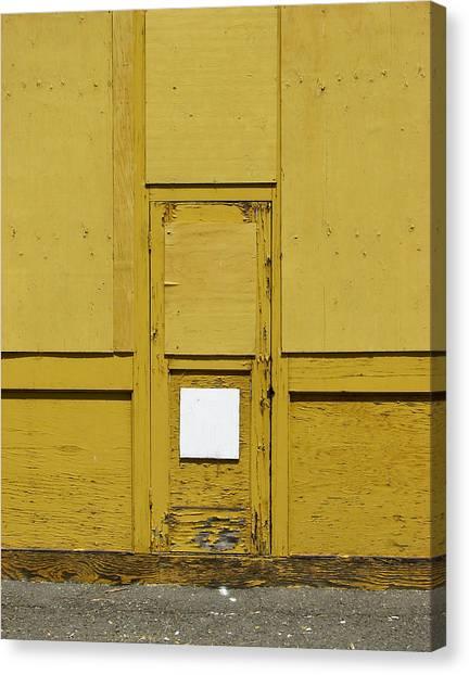 Yellow Door With Accent Canvas Print by Ben Freeman