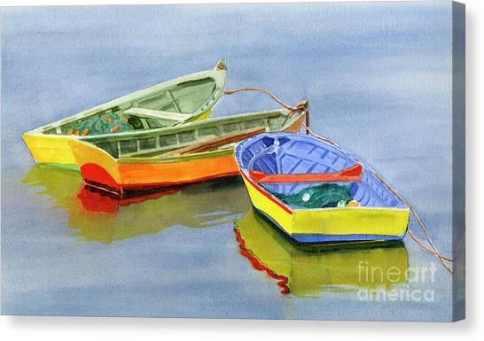 Chilean Canvas Print - Yellow Dories by Sharon Freeman