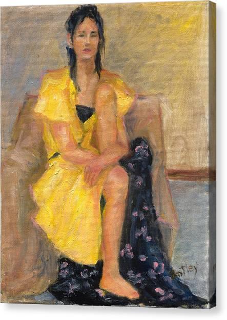 Yellow Dress Canvas Print by Rita Bentley