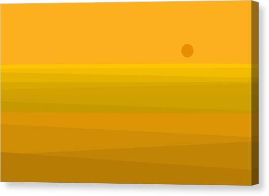 Yellow Fields Of Corn Canvas Print