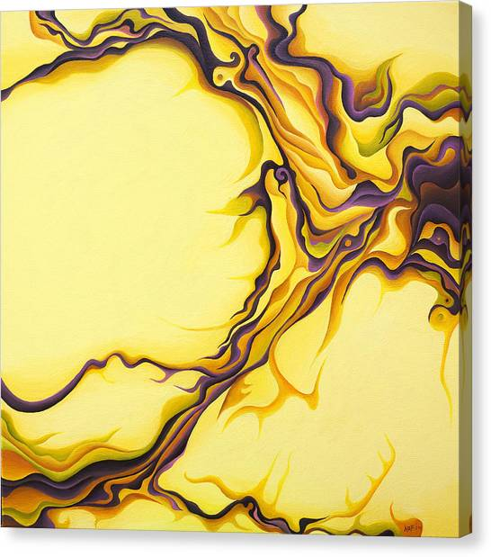 Yellow Flow Canvas Print