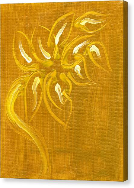 Yellow Flower 1 Canvas Print by Melissa Moore