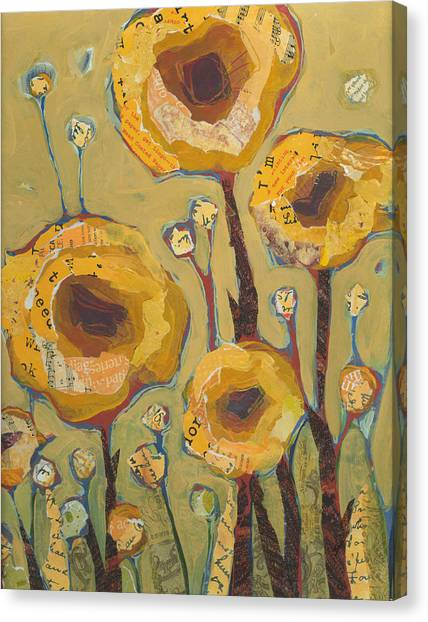 Yellow Flowers No3 Canvas Print