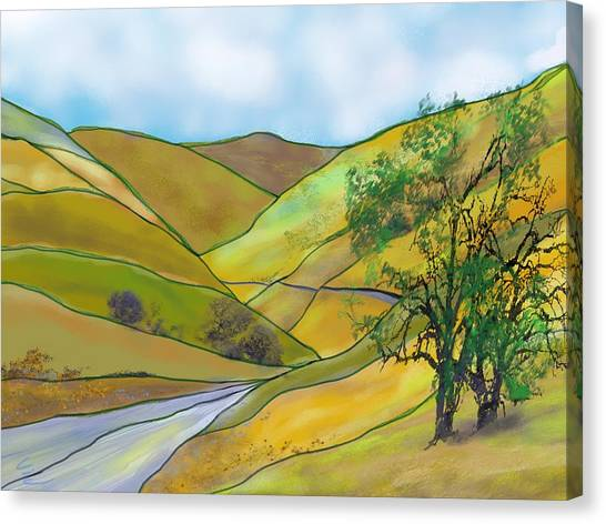 Yellow Foothills Canvas Print