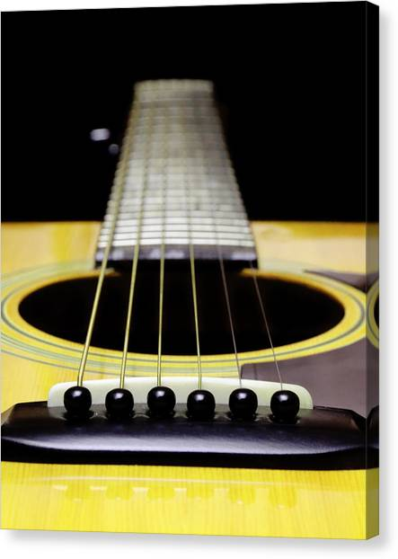 Yellow Guitar 17 Canvas Print