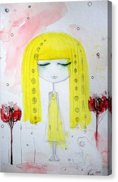 Yellow Hair Girl  Canvas Print