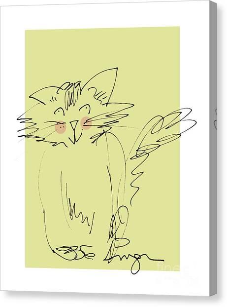 Yellow Kitty Canvas Print