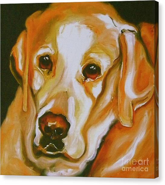 Yellow Lab Amazing Grace Canvas Print