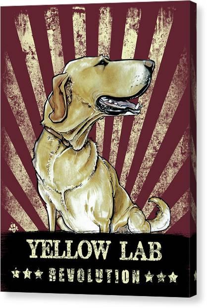 Yellow Lab Canvas Print - Yellow Lab Revolution by John LaFree