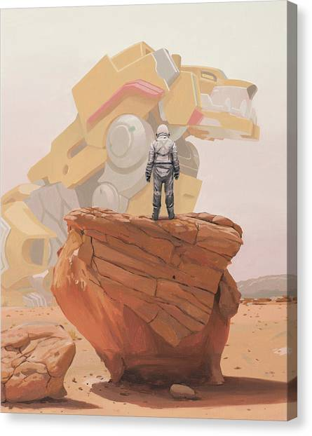 Science Canvas Print - Yellow Lion by Scott Listfield