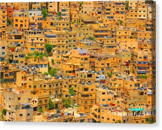 Yellow Maze Canvas Print