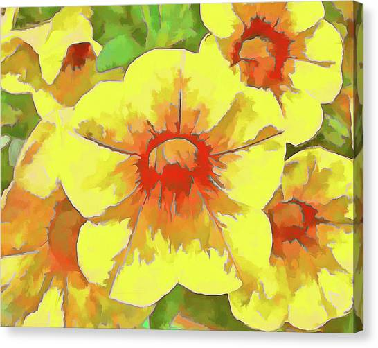 Yellow Million Bells Canvas Print