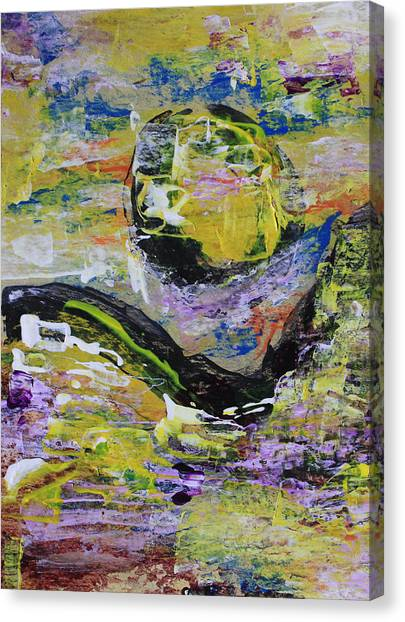 Yellow Moon Abstract Canvas Print