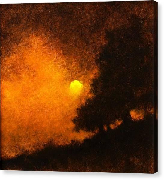 Canvas Print - Yellow Moon by Jim Gola