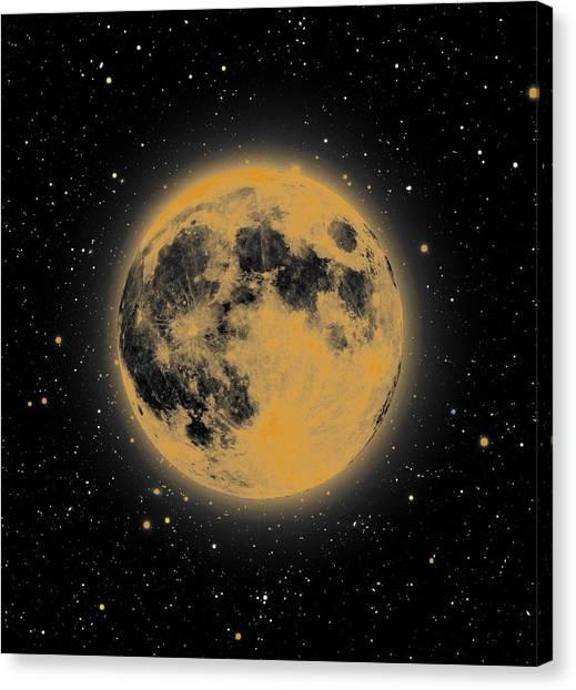 Yellow Moon Canvas Print