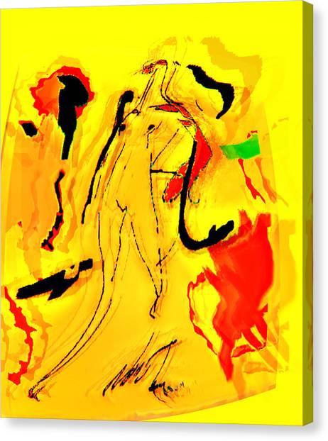Yellow Canvas Print by Noredin Morgan