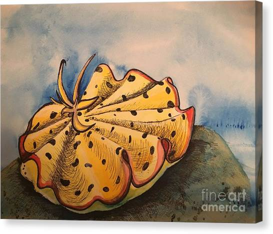 Yellow Nudibranch Canvas Print