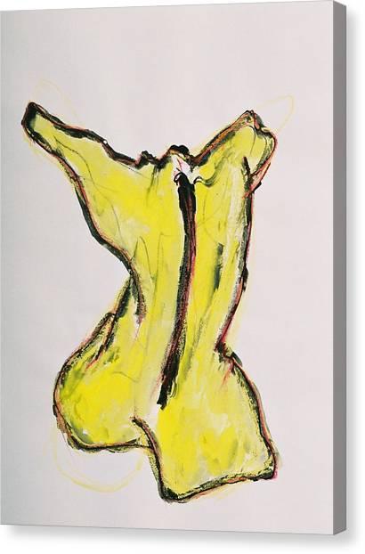 Yellow Canvas Print by Oudi Arroni