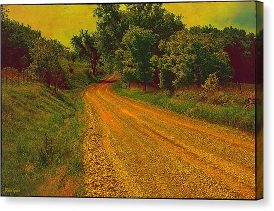 Yellow Oz Road Canvas Print