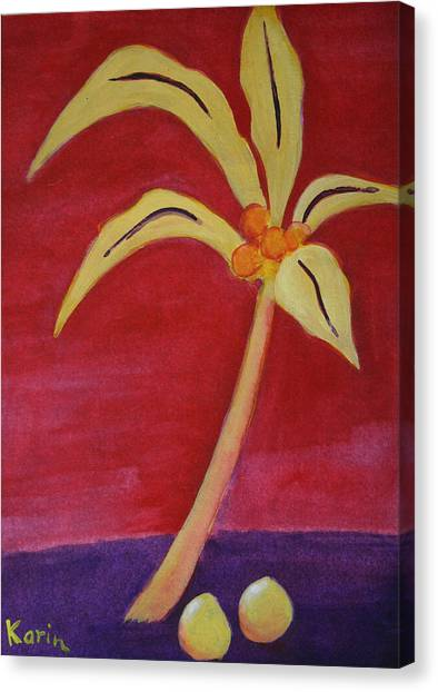 Yellow Palm Canvas Print