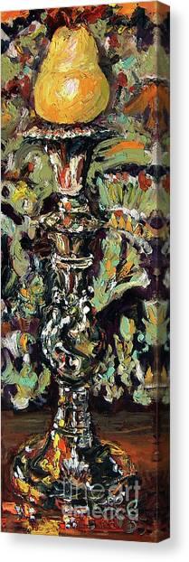 Yellow Pear Impressionism Still Life Canvas Print