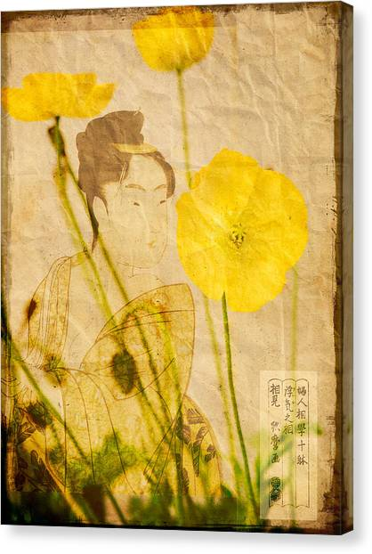 Yellow Poppies Canvas Print by Wesley Phillips