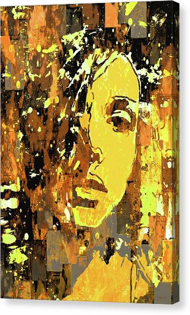 Canvas Print featuring the photograph Yellow Portrait by Jeff Gettis