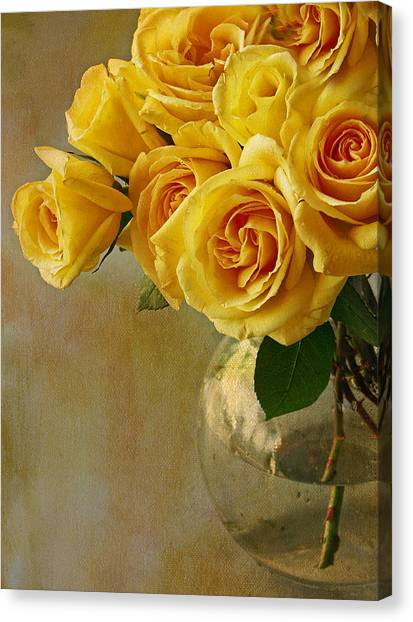 Yellow Rose Of... Canvas Print
